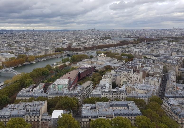 Tour Eiffel - vue du 2ème étage c