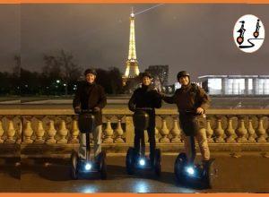 Paris by night in Segway